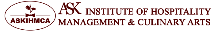 ASK Institute of Hotel management logo.